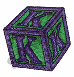 TOY BLOCKS K embroidery design
