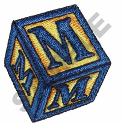 TOY BLOCKS M embroidery design