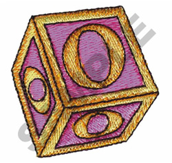 TOY BLOCKS O embroidery design