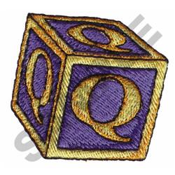 TOY BLOCKS Q embroidery design