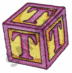 TOY BLOCKS T embroidery design