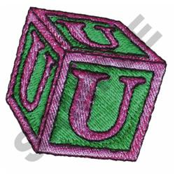 TOY BLOCKS U embroidery design