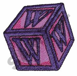 TOY BLOCKS W embroidery design