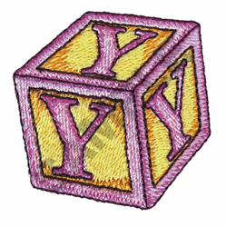 TOY BLOCKS Y embroidery design