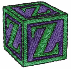 TOY BLOCKS Z embroidery design