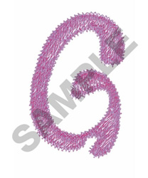 BUBBLE GUM G embroidery design