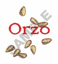 ORZO embroidery design