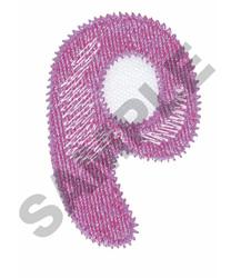 BUBBLE GUM P embroidery design