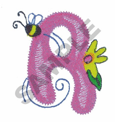 GARDEN GIRL R embroidery design