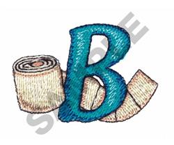 BATHTIME B embroidery design