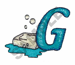 BATHTIME G embroidery design