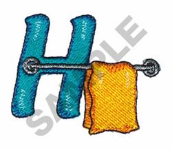 BATHTIME H embroidery design