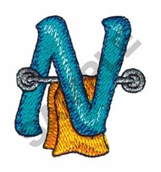BATHTIME N embroidery design