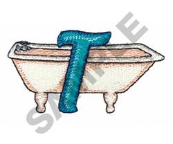 BATHTIME T embroidery design