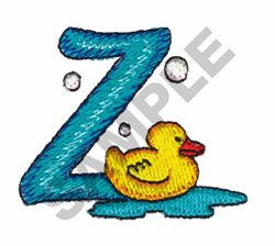 BATHTIME Z embroidery design