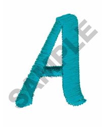 LETTER A embroidery design