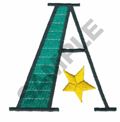 BRIGHT ALPHA A embroidery design