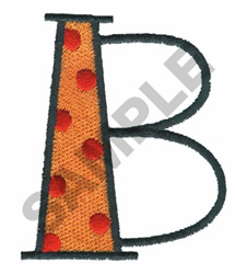 BRIGHT ALPHA B embroidery design