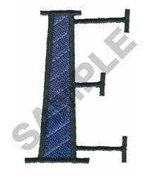 BRIGHT ALPHA E embroidery design