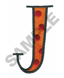 BRIGHT ALPHA J embroidery design