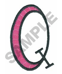 BRIGHT ALPHA Q embroidery design