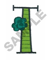 BRIGHT ALPHA T embroidery design