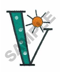 BRIGHT ALPHA V embroidery design