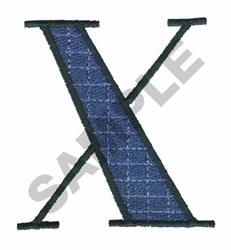 BRIGHT ALPHA X embroidery design