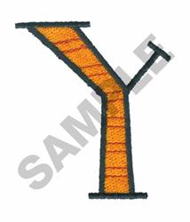 BRIGHT ALPHA Y embroidery design