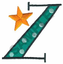 BRIGHT ALPHA Z embroidery design