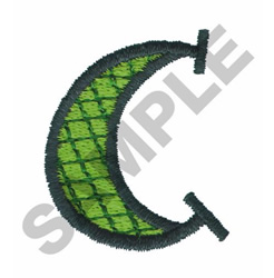 BRIGHT ALPHA LOWER CASE C embroidery design