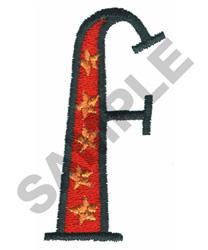 BRIGHT ALPHA F embroidery design