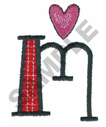 BRIGHT ALPHA LOWER CASE M embroidery design