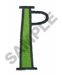 BRIGHT ALPHA P embroidery design