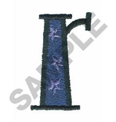 BRIGHT ALPHA R embroidery design