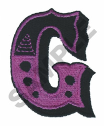 CIRCUS G embroidery design