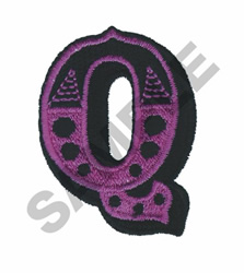 CIRCUS Q embroidery design