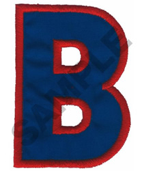 B APPLIQUE embroidery design