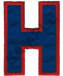 H APPLIQUE embroidery design