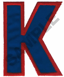 K APPLIQUE embroidery design