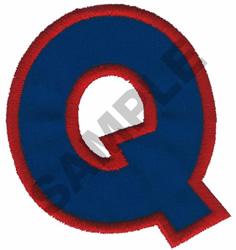 Q APPLIQUE embroidery design