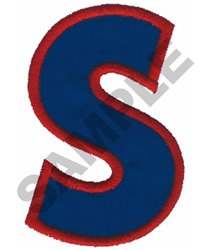 S APPLIQUE embroidery design