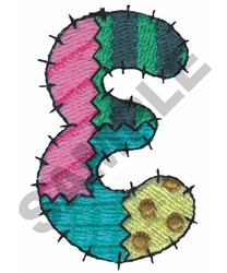 E embroidery design