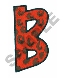 B embroidery design
