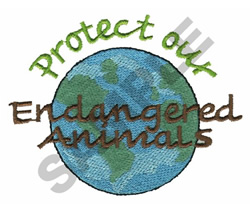 ENDANGERED ANIMALS embroidery design