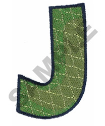 J embroidery design