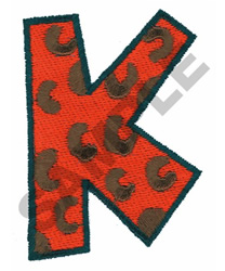 K embroidery design