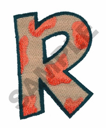 R embroidery design