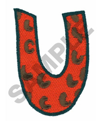 U embroidery design