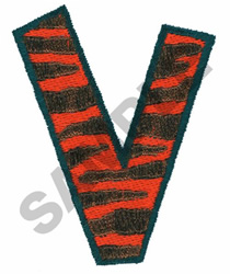 V embroidery design